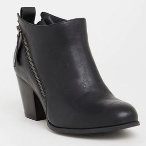 Torrid Double Zipper Ankle Boots